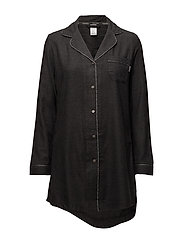 L/S NIGHTSHIRT, 038, - CHARCOAL HEATHER