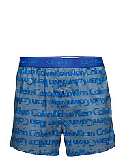 WOVEN SLIM FIT EXPOSED WAISTBAND - ECHO LOGO COPEN BLUE
