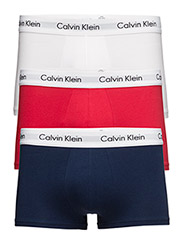 3P LOW RISE TRUNK 00 - WHITE/RED GINGER/PYRO BLUE