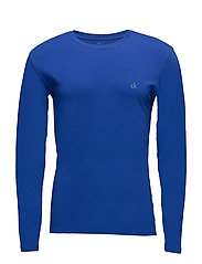 L/S CREW NECK 2FI, S - AMPLIFIED BLUE