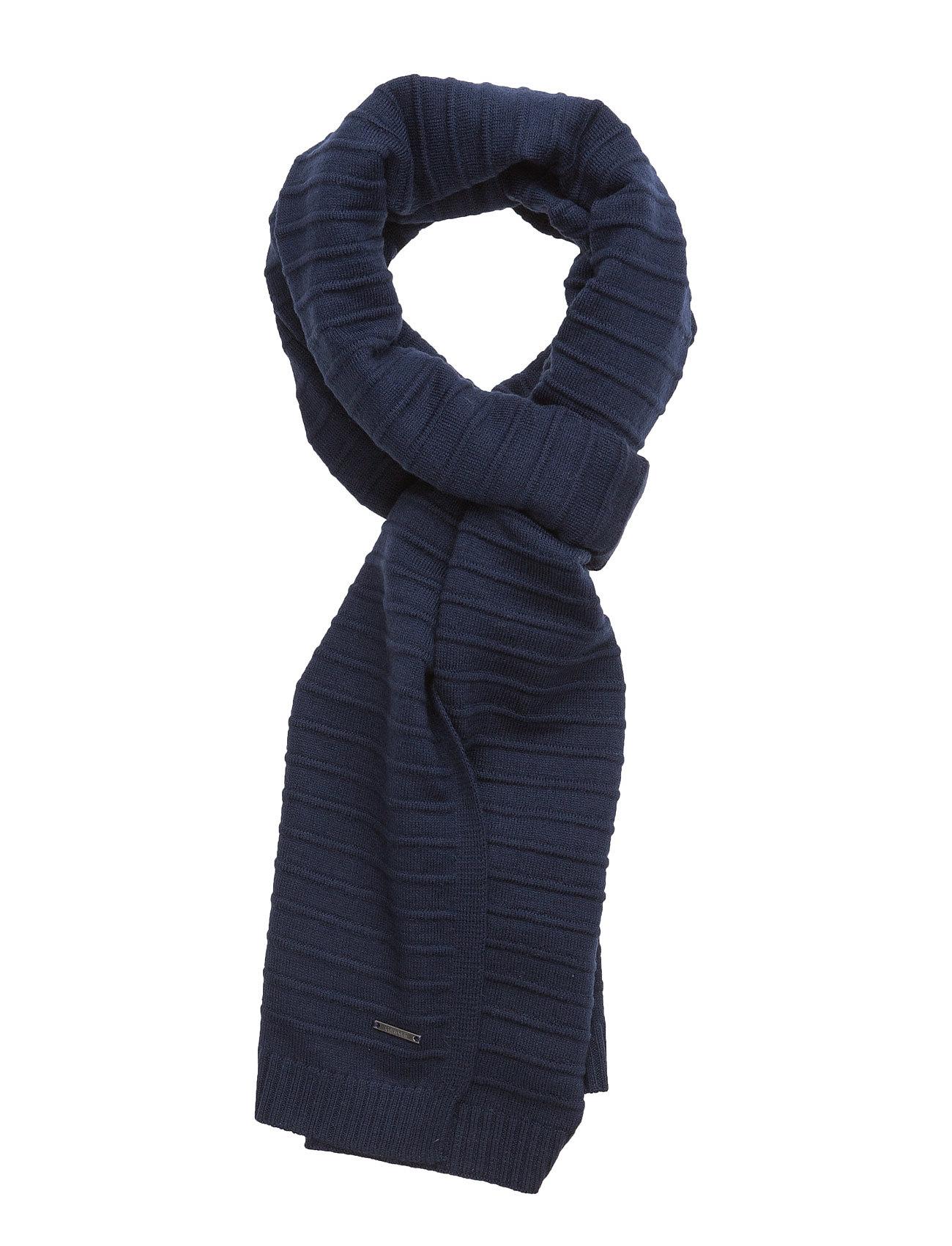 Basic 2 Scarf 000, O Calvin Klein Halstørklæder til Mænd i Navy blå