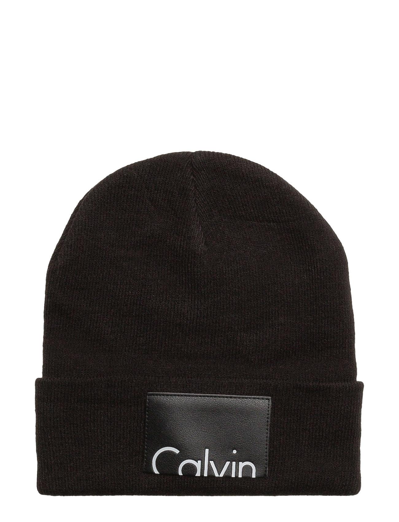 Calvin Beanie, 001, Calvin Klein Hatte & Caps til Herrer i Sort