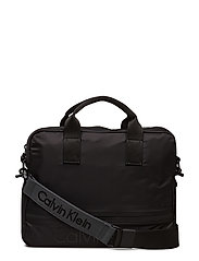 MATTHEW  LAPTOP BAG, - BLACK