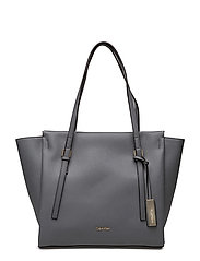 MARISSA LARGE TOTE, - STEEL GREY