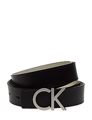CK REVERSIBLE BELT B - BLACK/DUSTED IVORY