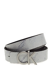 CK REVERSIBLE BELT B - MARBLE/BLACK