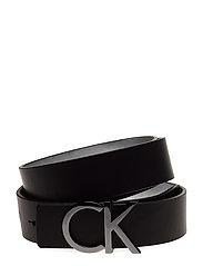 CK REVERSIBLE BELT B - SILVER/BLACK