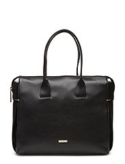 VICTORI4 LARGE TOTE, - BLACK