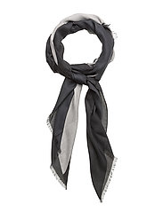 NICKY PRINT SCARF, 9 - BLACK/DUSTED IVORY