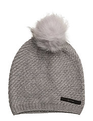 CK TWIST BEANIE, 001 - STEEL GREY