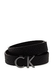 CK SNAKE BELT, 910, - BLACK