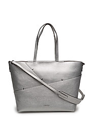 LUNA MEDIUM TOTE STA - SILVER