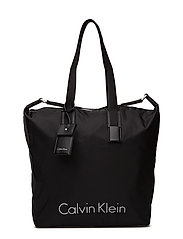 CITY NYLON SHOPPER - BLACK