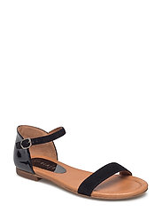 SANDALS - BLACK SUEDE/PATENT 520
