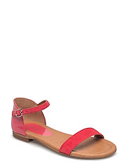 SANDALS - PINK SUEDE/PATENT 529