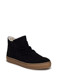 BOOTS - BLACK SUEDE/ CAMEL SOLE 502