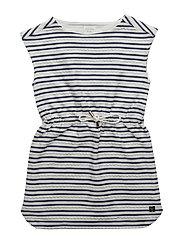 DRESS - OFF WHITE  BLUE