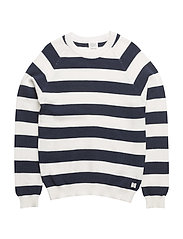 PULLOVER - OFF WHITE  NAVY