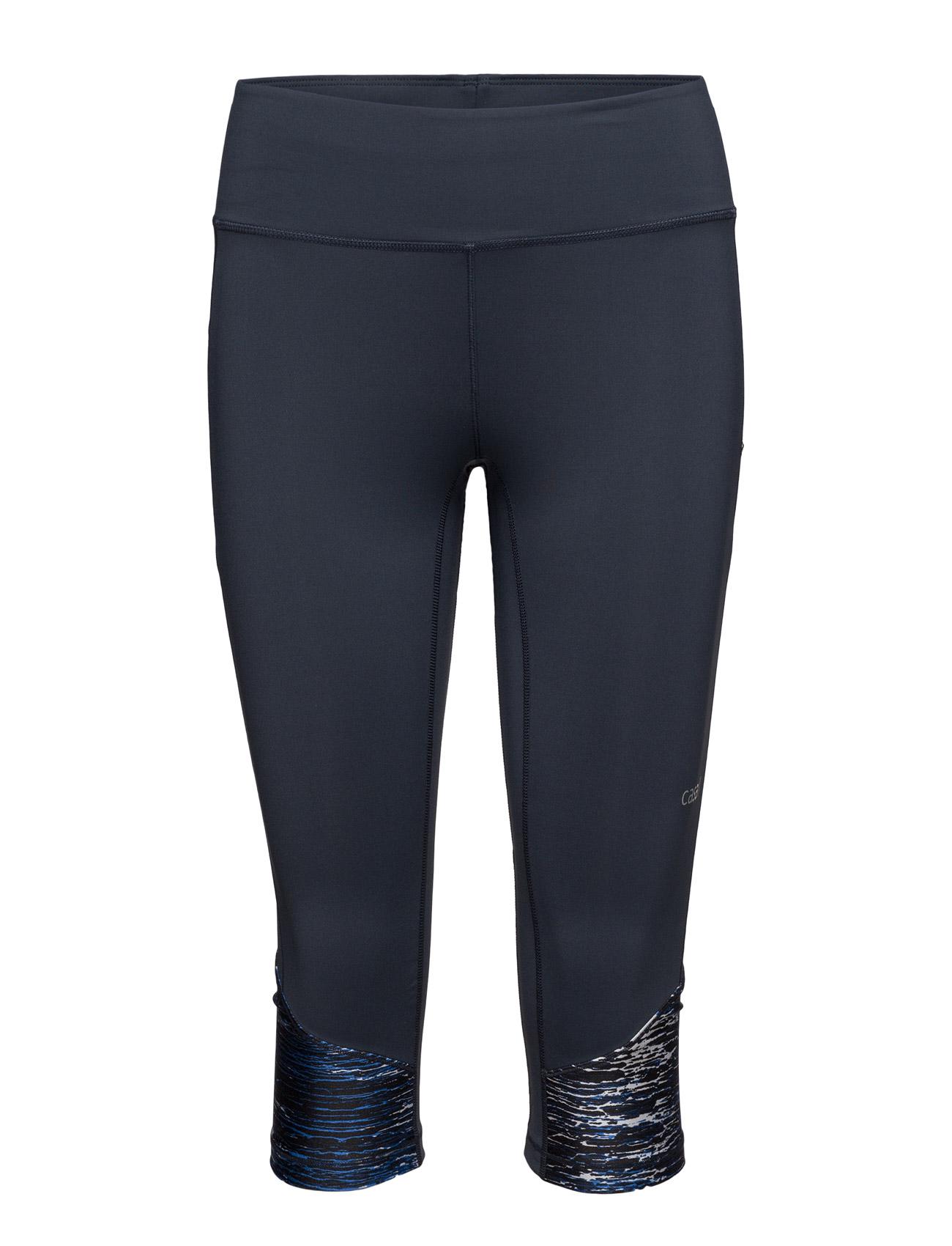 Marble Block 3/4 Tights Casall Trænings leggings til Kvinder i Sort