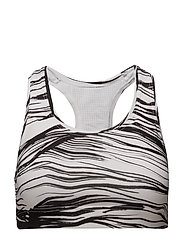 Iconic sports bra - WHITE WAVE