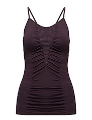 Knitted brushed straptank - PLUM PERFECT