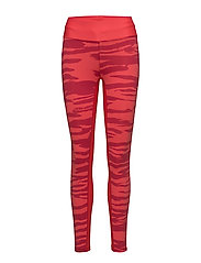 Brush print 7/8 tights - RED BRUSH