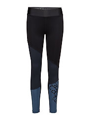 Asymmetric 7/8 tights - OUTER SPACE BLUE