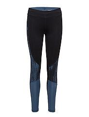 Oblique block tights - BLUE OBLIQUE