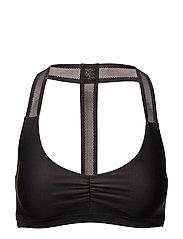 Lace bikini top - BLACK