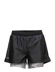 Double up shorts - BLACK