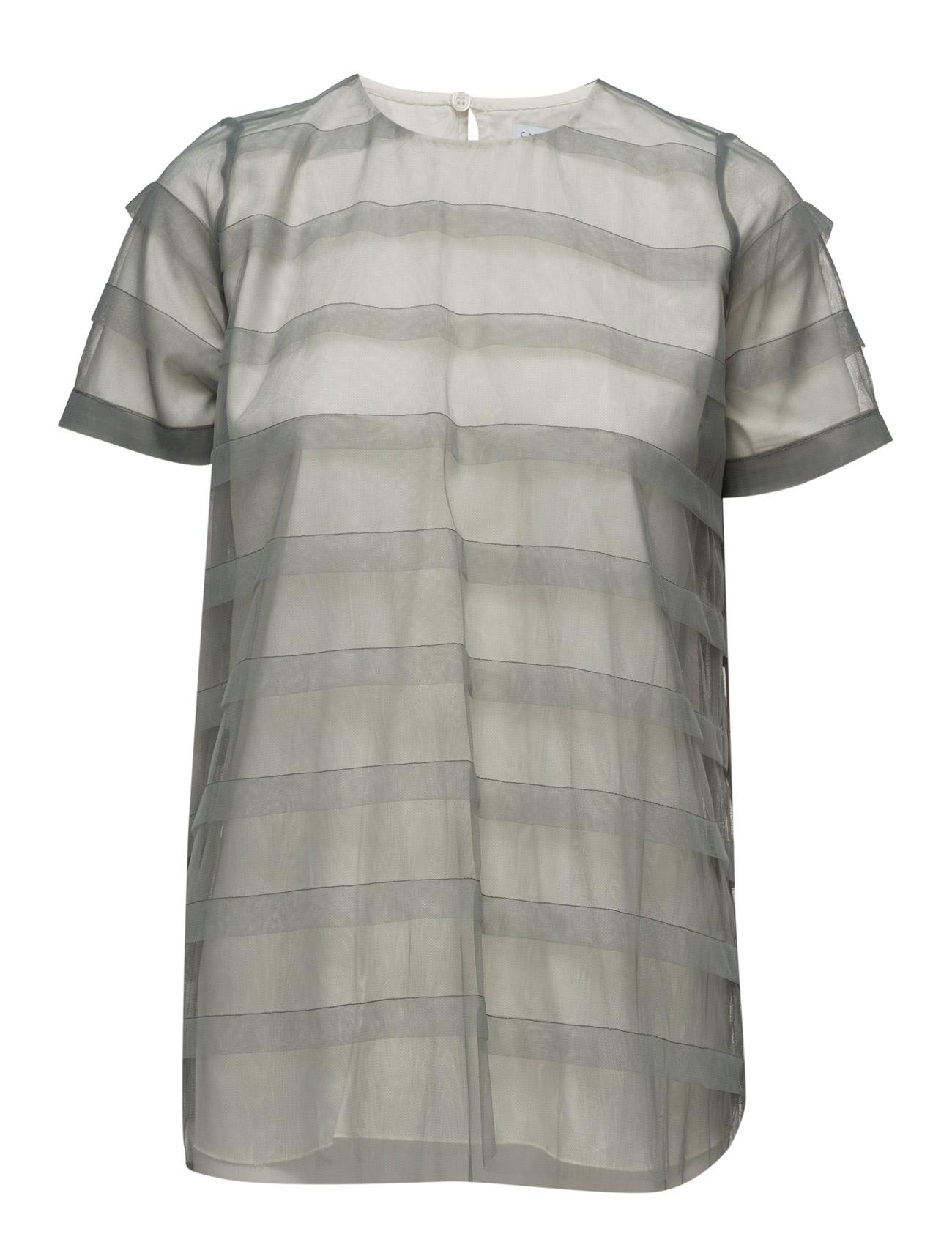 Striped Tulle Tee-Shirt Cathrine Hammel Kortærmede til Damer i