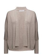 Short shawl cardigan - TAUPE MELANGE