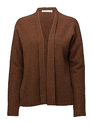 Short shawl cardigan - RUST MELANGE
