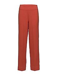 High waist pants - HIBISCUS RED