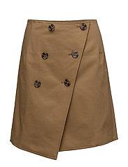 Short wrap skirt - KHAKI