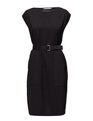 Belted dress - BLACK