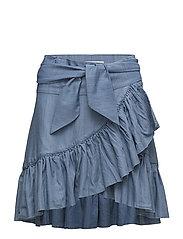 Ruffle skirt - DENIM BLUE