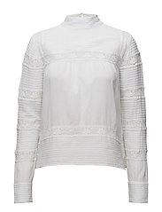 Lace blouse - WHITE
