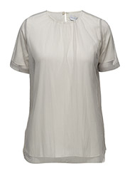 Tulle tee-shirt - PEARL GREY