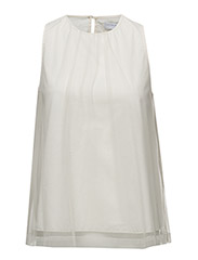 Classic tulle top - OFF WHITE