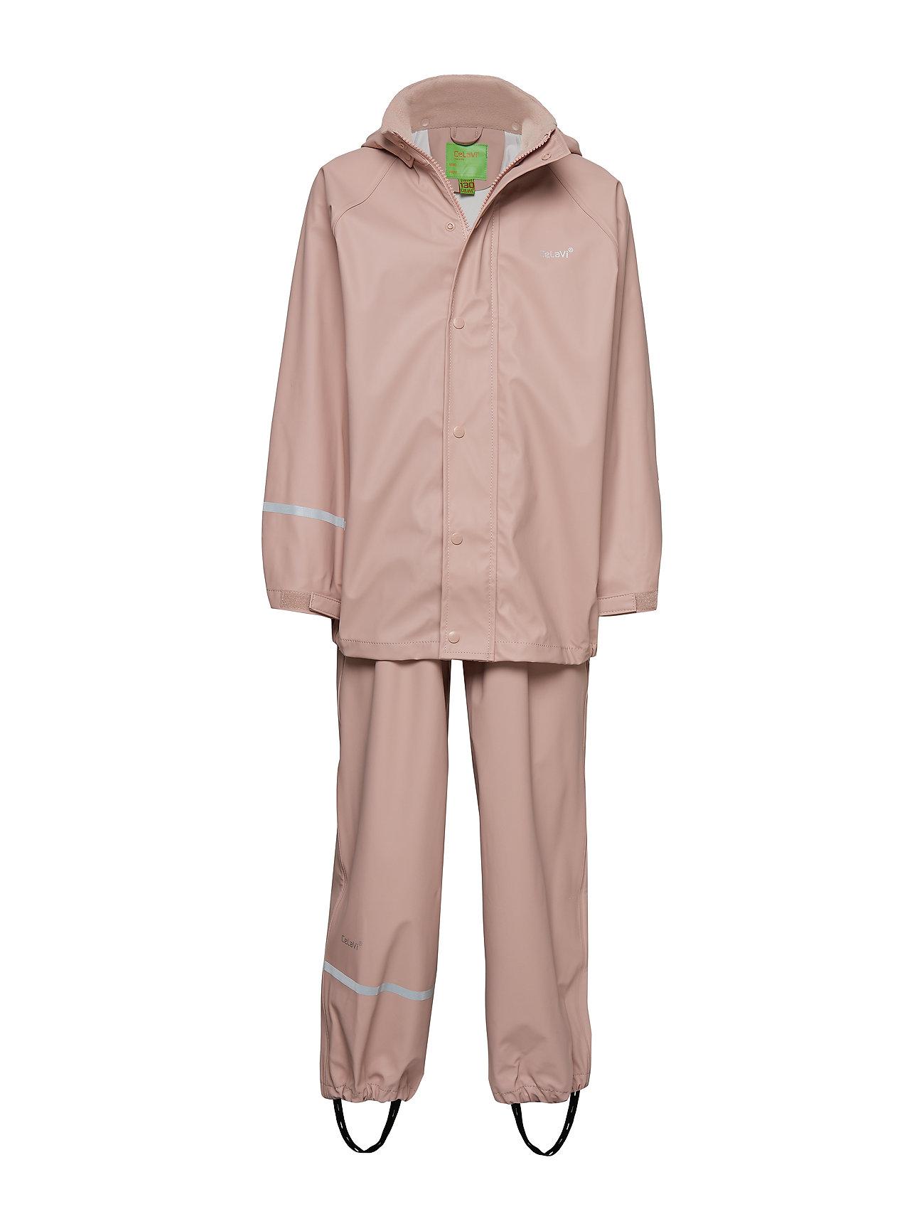 Basci Rainwear Set, Solid CeLaVi Regntøj til Børn i Grøn