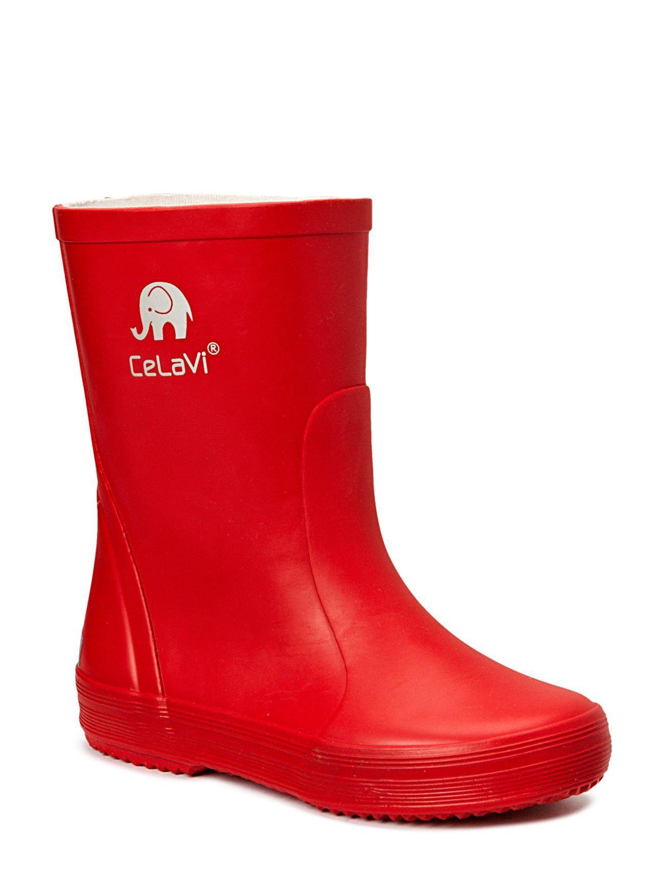 Basic Wellies, Solid CeLaVi Gummistøvler til Børn i Rød