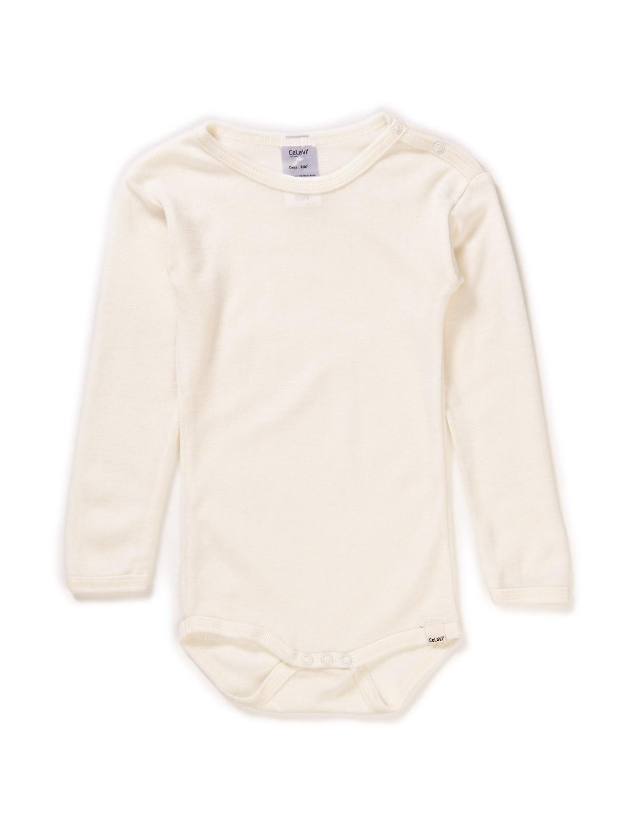 Body Ls - Basic Wool CeLaVi Langærmede bodies til Børn i Råhvid