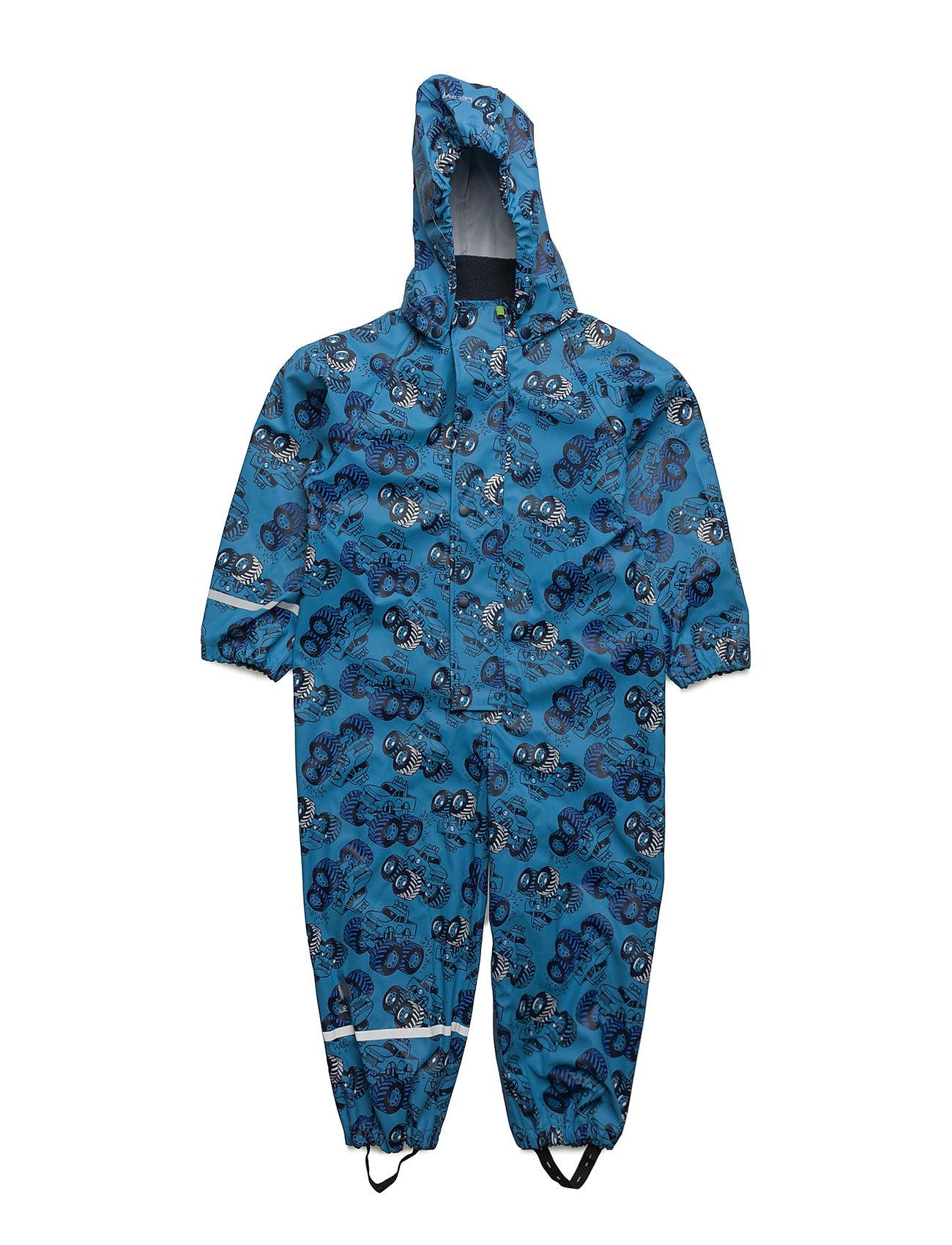 Rainwear Suit -Pu W. Aop CeLaVi Overtøj til Drenge i Blå