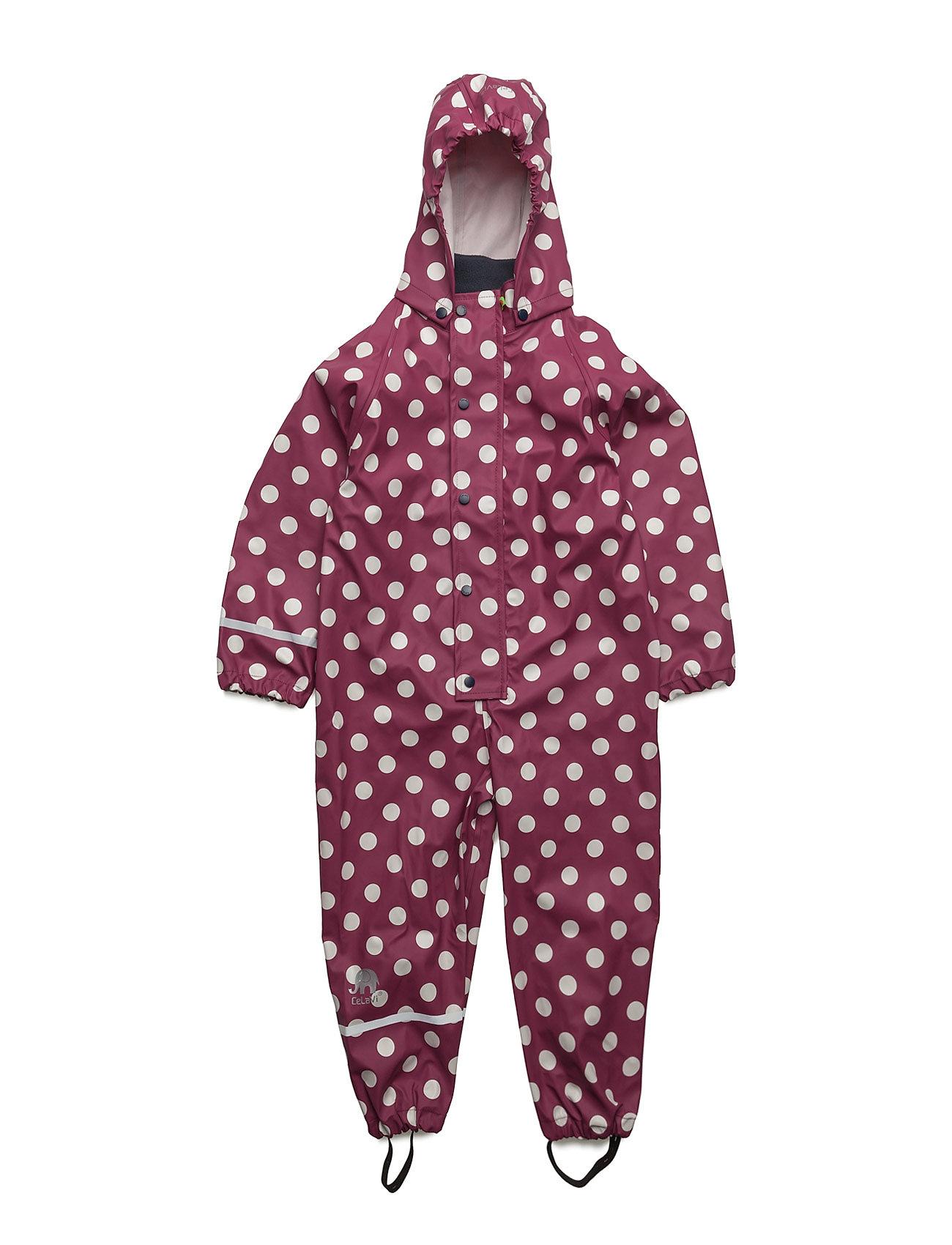 Rainwear Suit -Pu W. Aop CeLaVi Regntøj til Børn i Blå