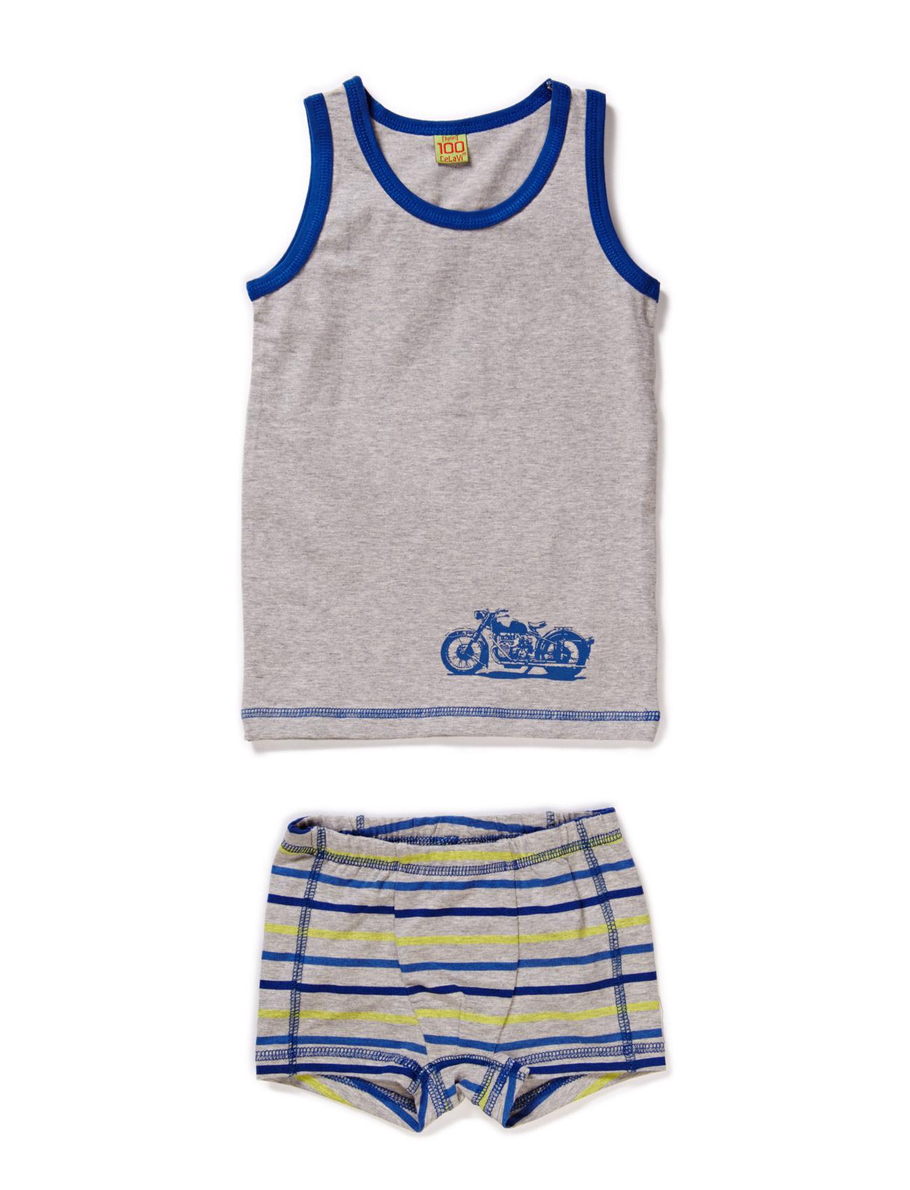Underwear Set With Stripes
