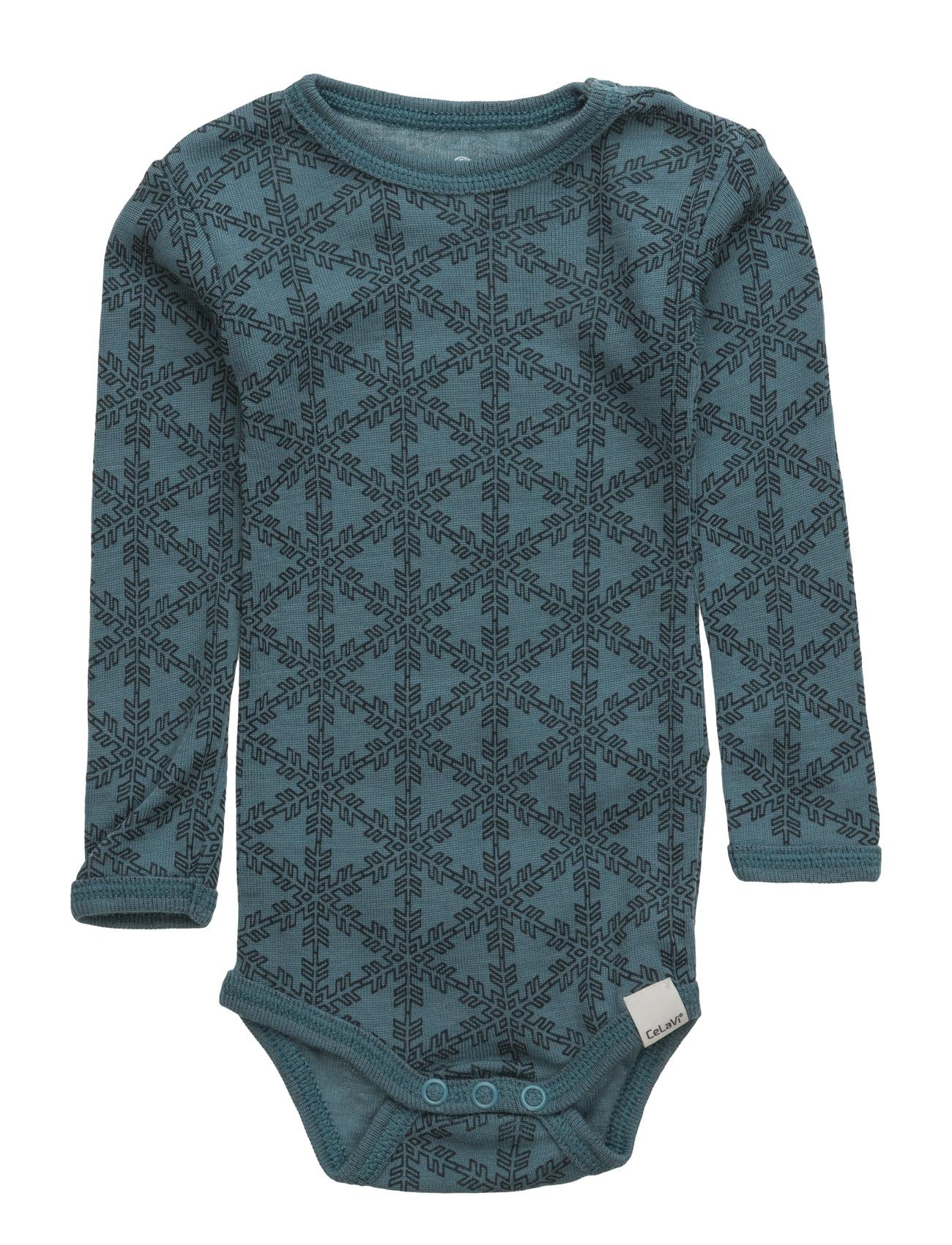 Body Ls Ao-Printed Wool CeLaVi Langærmede bodies til Børn i
