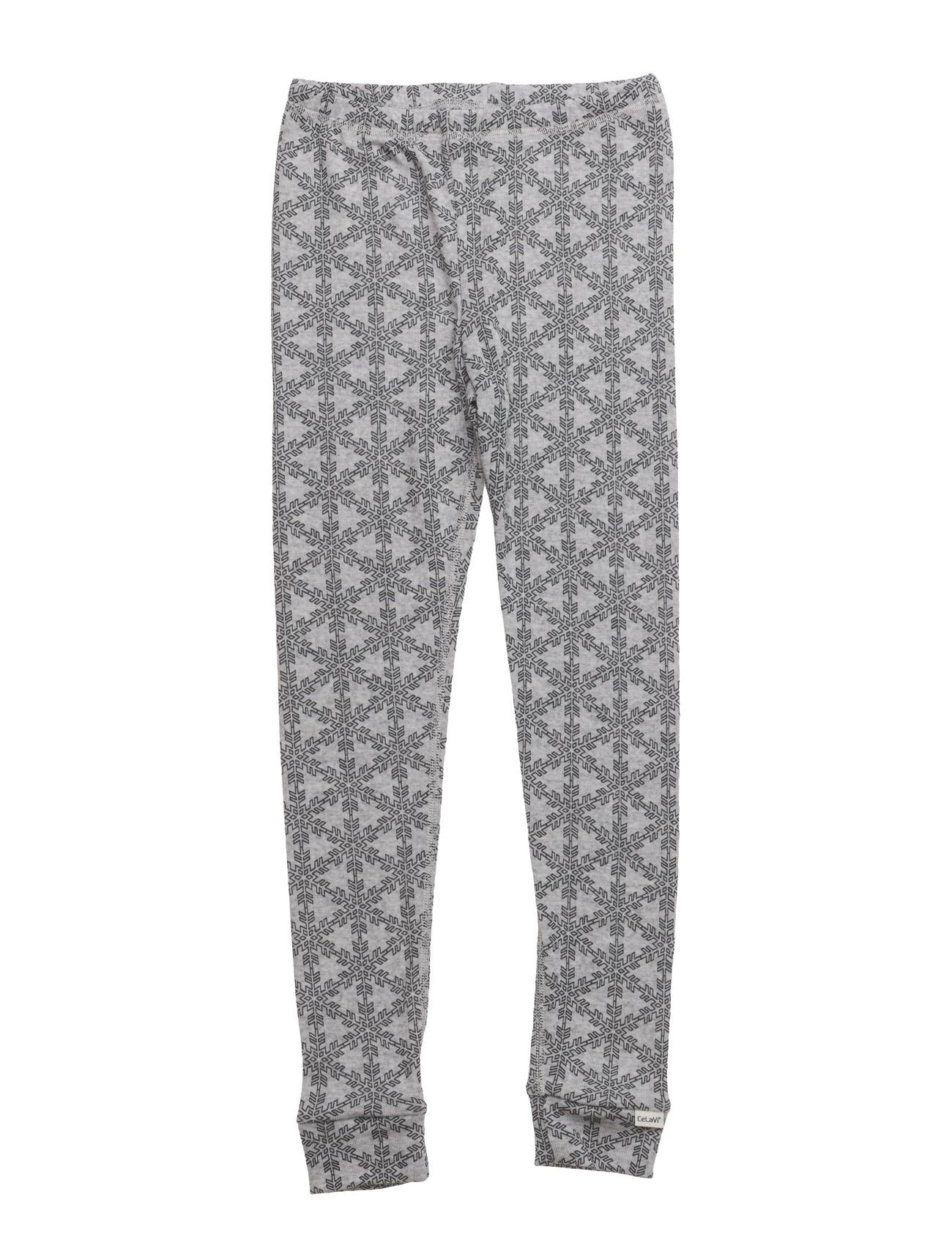 Long Johns -Ao-Printed Wool CeLaVi Nat & Undertøj til Børn i Grey Melange