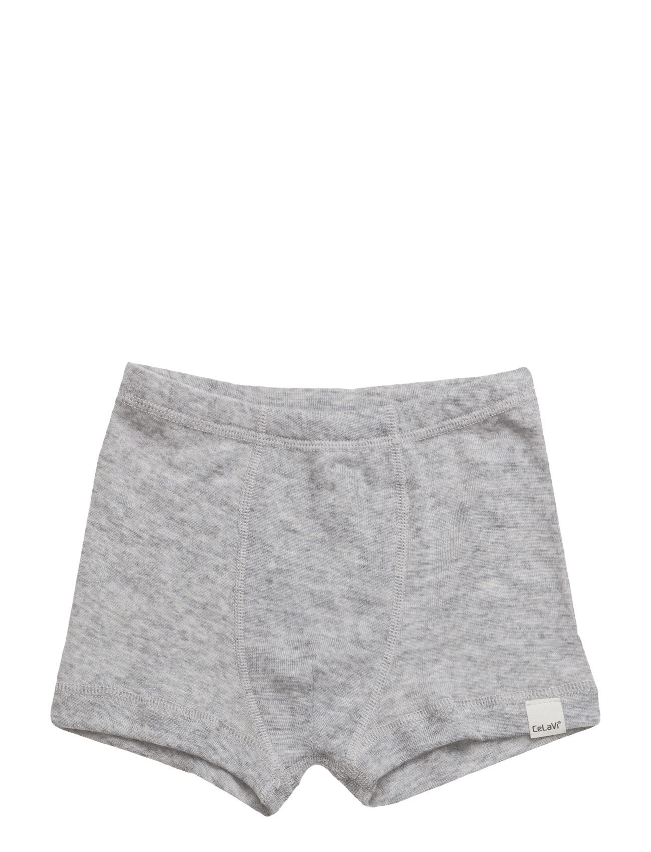 Boxer Shorts -Solid Wool CeLaVi Undertøj til Børn i Grey Melange