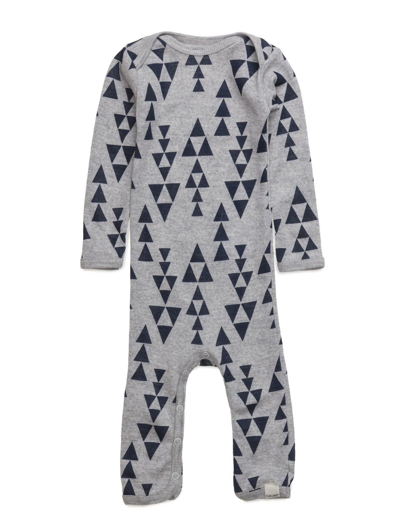 Jumpsuit Ls Ao-Printed Wool CeLaVi Langærmede bodies til Børn i Mørk Navy